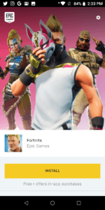 How to install fortnight on android