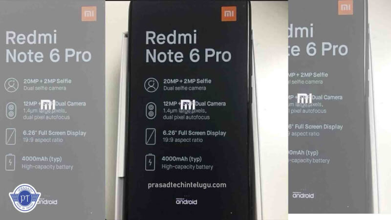 redmi note 6 ro leaked