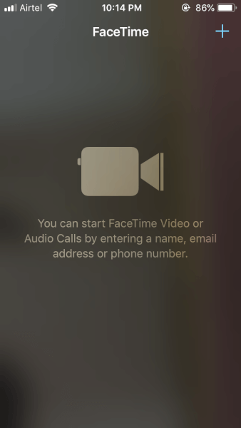 FaceTime Start