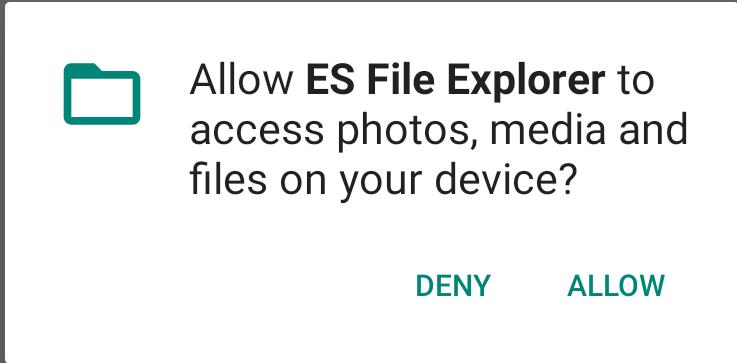 ES File Explorer Permissions
