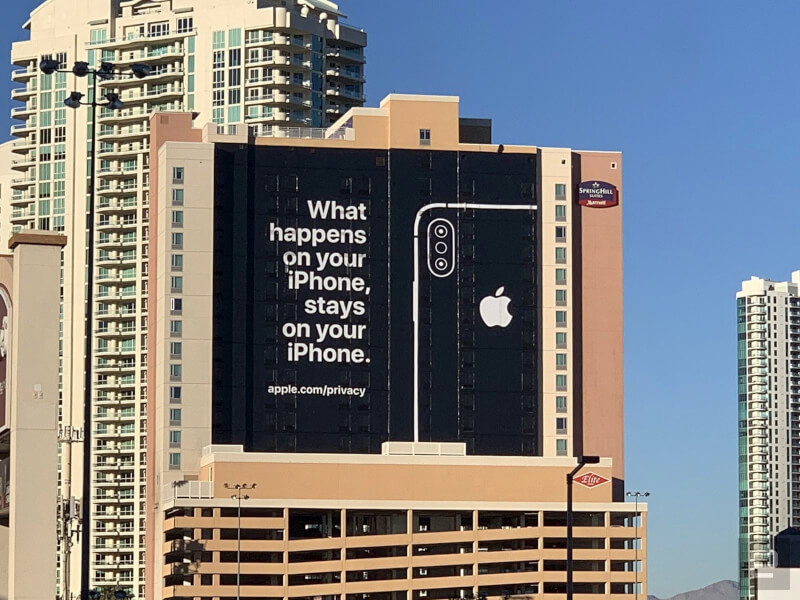 Apple Banner at CES 2019