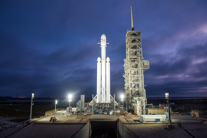 Falcon Heavy before its maiden launch.