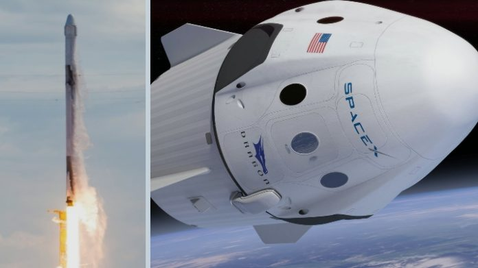 SpaceX. SpaceX Falcon 9. SpaceX Crew Dragon. SpaceX dragon.