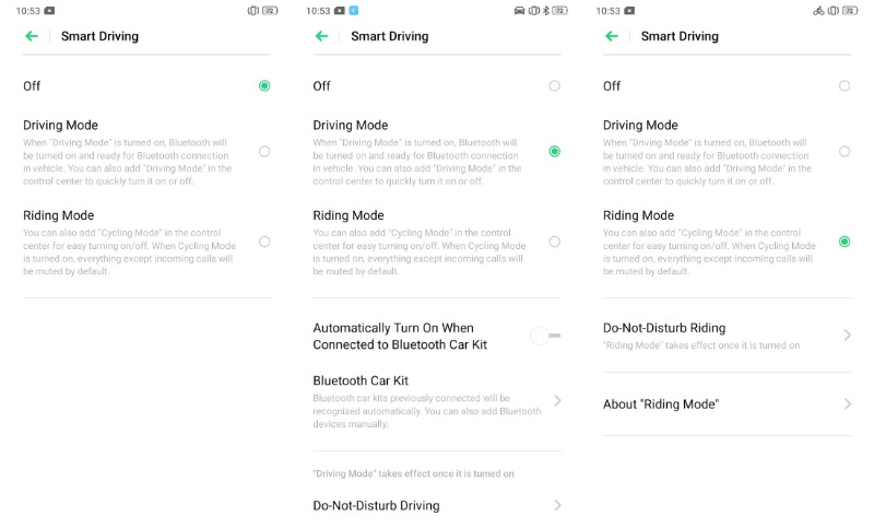 Smart Driving ColorOS 6