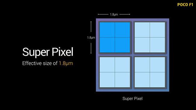 Pixel binning super pixel