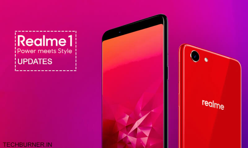 realme 1 updates, realme 1 pie, realme 1 latest update, realme 1 color os 6.0