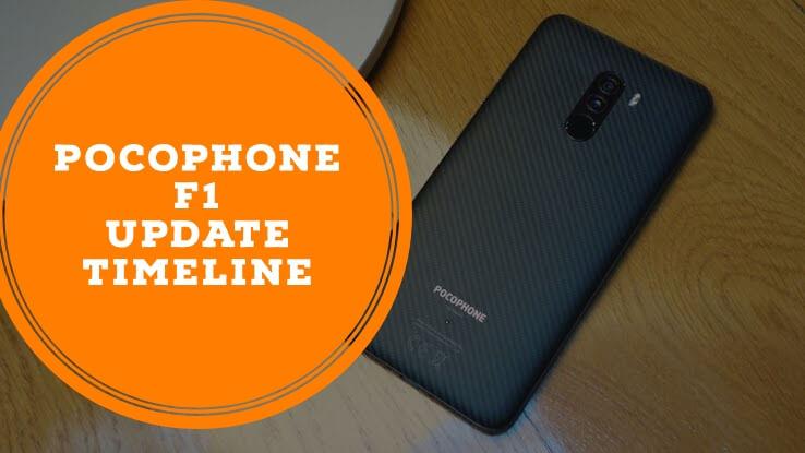 Pocophone F1 update timeline