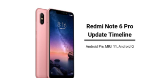 Redmi Note 6 Pro Pie Update