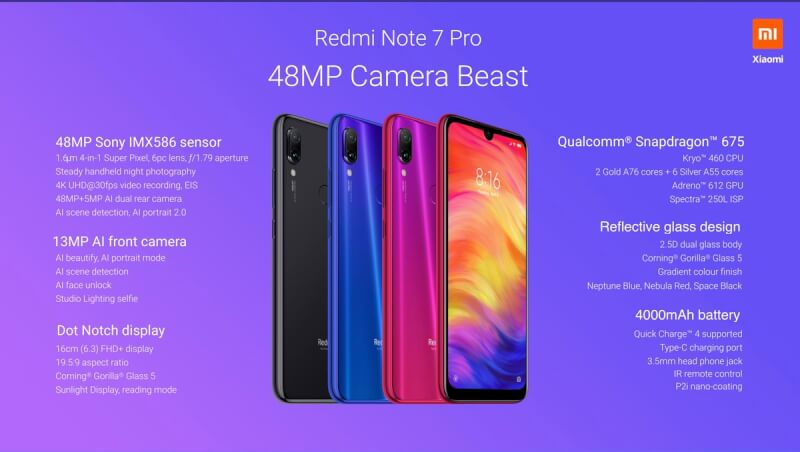 Redmi Note 7 Pro Specification