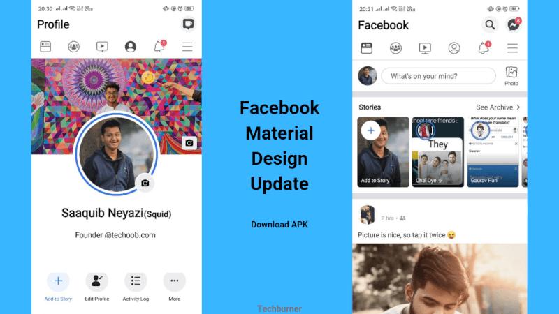 Facebook Material Design Update Download Latest Apk Techburner Download facebook 300.51.129 and all version history for android. facebook material design update