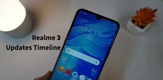 Realme 3 Updates Timeline