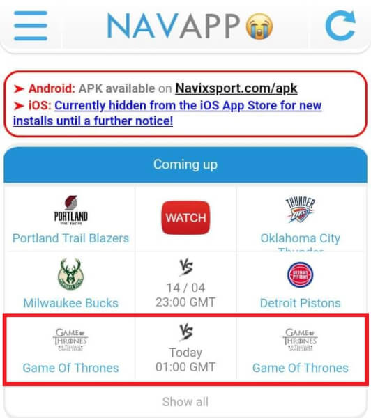 Navixsport app download