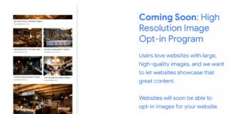Google Images Opt-In Program