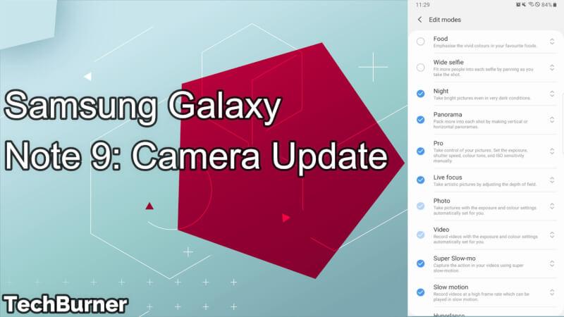 Samsung Galaxy Note 9 Camera Update: Super Night Shot Mode