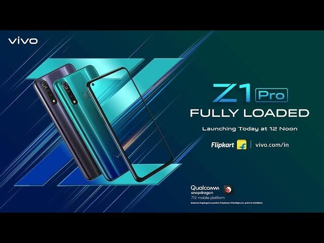 vivo z1 pro launch date in india
