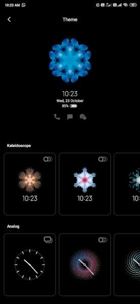Always-on-display MIUI 11