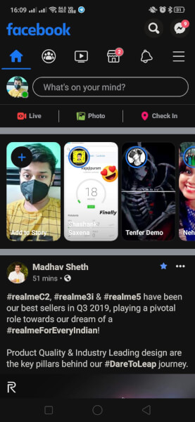 How to enable dark mode in Realme X