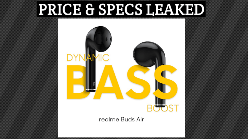 realme buds air, realme buds air price, realme buds air launch, realme buds air features, realme earbuds