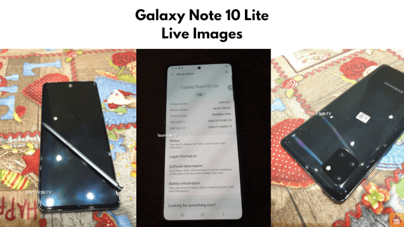 Galaxy Note 10 Lite Live Images, S10 Lite
