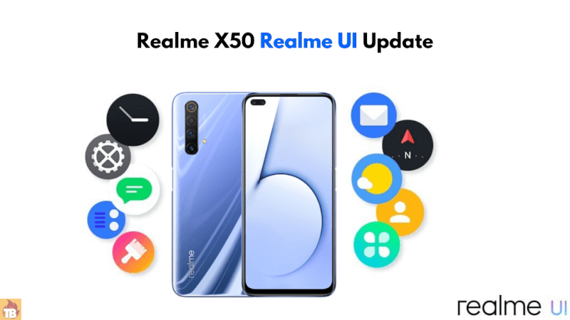 How to update realme ui on Realme X50