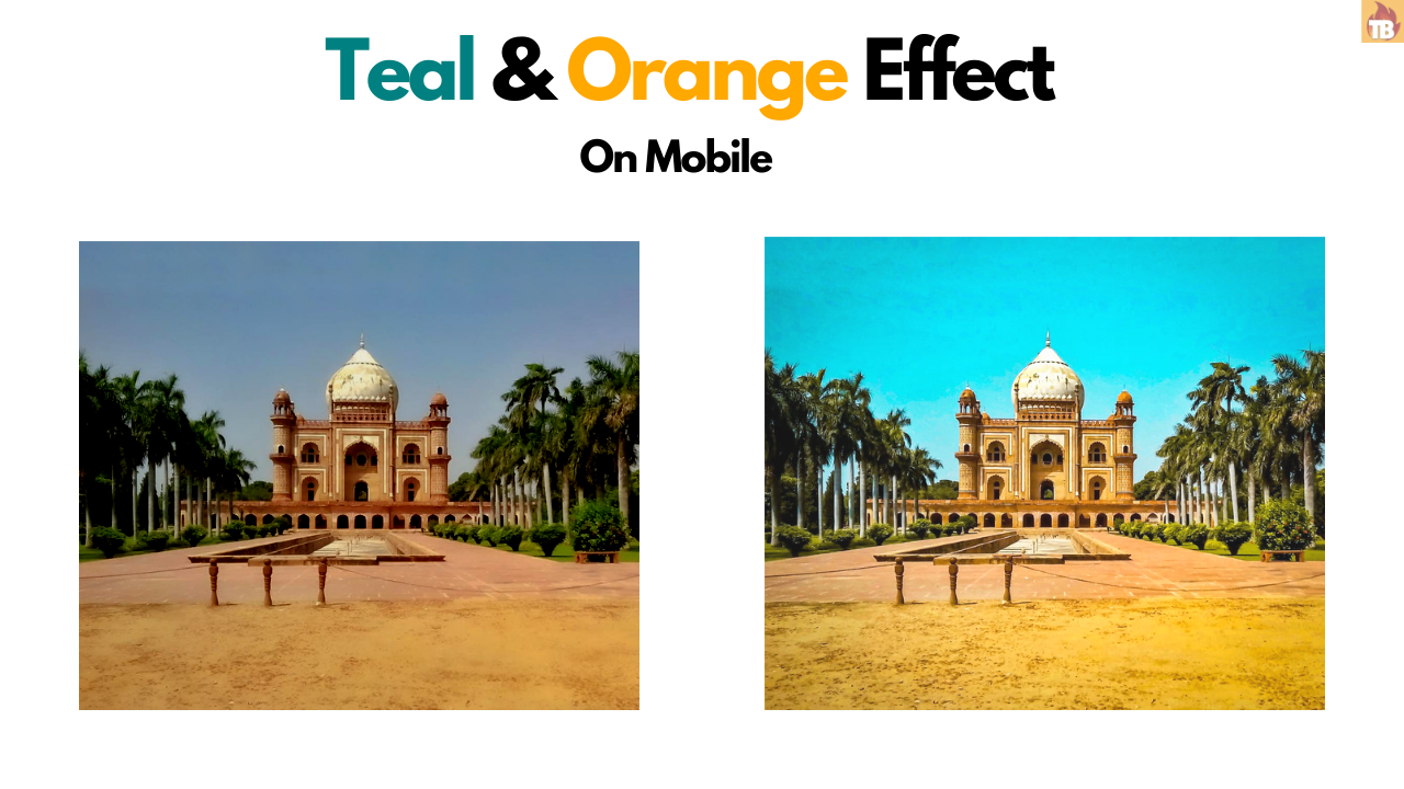 How to get teal & orange effect in mobile
