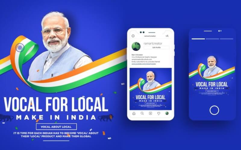 vocal for local smartphones in India, make in India, aatmanirbhar