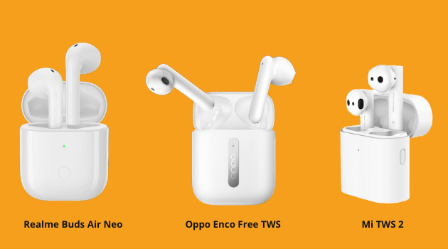 realme buds air neo vs oppo enco tws, realme buds air neo vs mi tws 2, realme buds air neo vs mi tws 2 price in India, realme buds air neo vs mi tws 2 specs, oppo enco tws vs mi tws 2