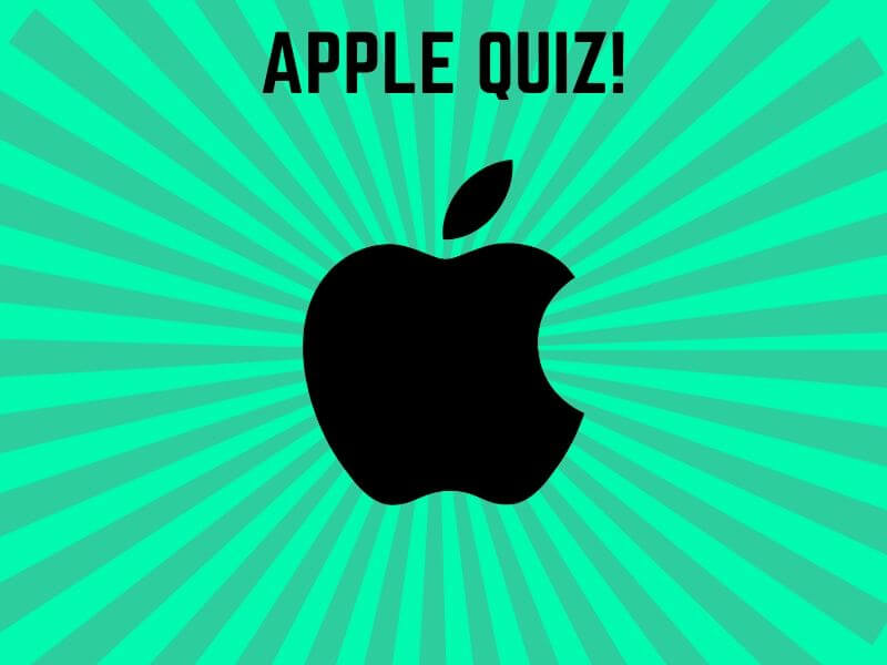 A quiz for apple fan