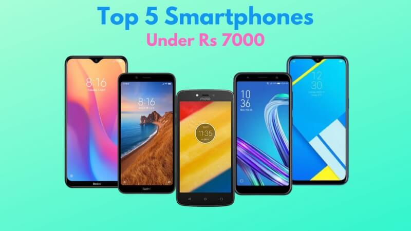 top 5 Mobiles under Rs 7000, top 5 budget mobiles of 2020, top 5 budget devices under 7000, best 5 mobile under 7000, top 5 budget smartphones under 7000