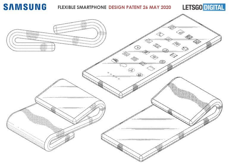samsung new patent, samsung foldable phone new patent, samsung patent for foldable phone, new samsung foldable phone patent, new foldable phone patent by samsung