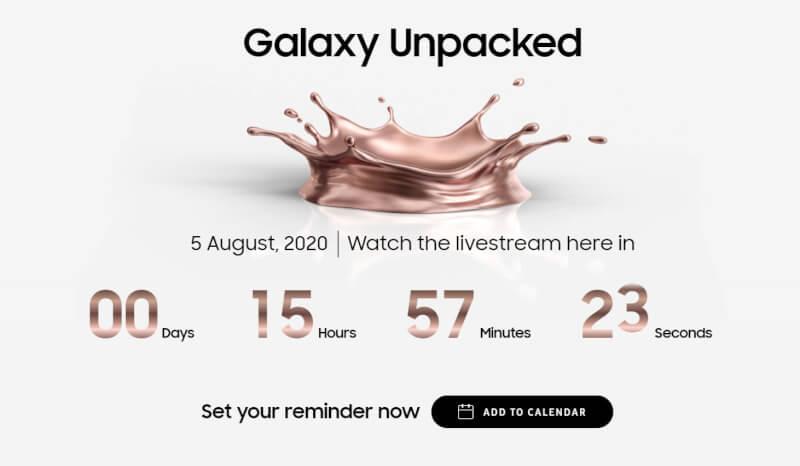 Samsung Unpacked, Watch Samsung Unpacked