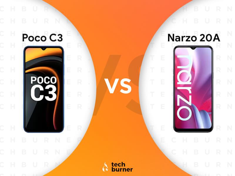 Poco C3 vs Realme Narzo 20A, Poco C3 vs Realme Narzo 20A Specs, Poco C3 vs Realme Narzo 20A Features, Poco C3 vs Realme Narzo 20A Price in India, poco c3 launched