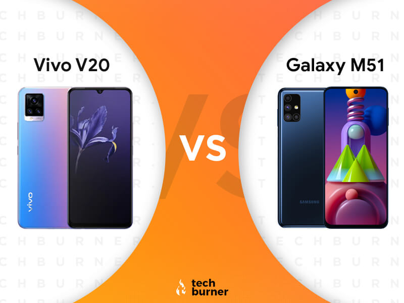 vivo v20 vs samsung galaxy m51, vivo v20 vs samsung galaxy m51 features, vivo v20 vs samsung galaxy m51 price, vivo v20 vs samsung galaxy m51 specs, vivo v20 launched