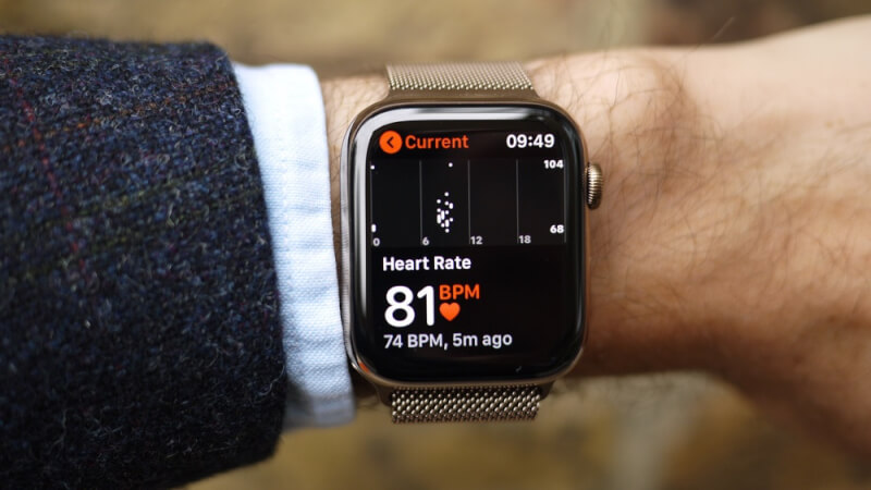 Heat rate apple watch