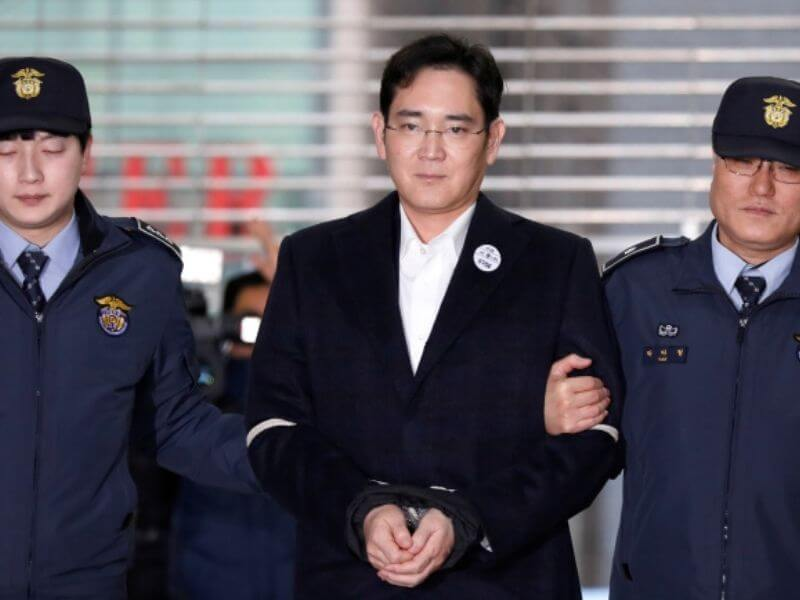 Samsung Heir sent to jail
