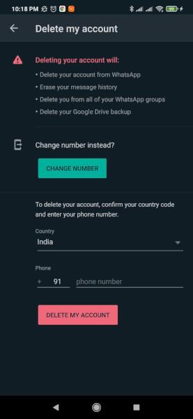 how to delete whatsapp account, delete whatsapp account on android, delete whatsapp account on ios, delete whatsapp account on kaios, delete whatsapp account