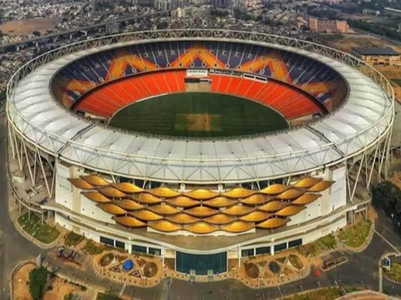 mortera stadium renamed, narendra modi stadium, sardar patel stadium, eco friendly stadium, eco-friendly stadium, world largest cricket stadium