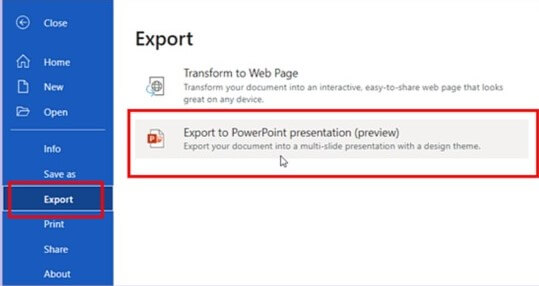 Microsoft New Tool, Word to PPT Converter, Micrsoft introduces Word to PPT tool