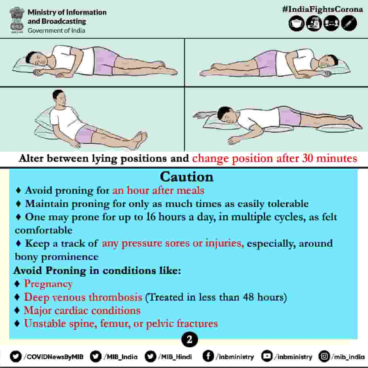 proning position for oxygen