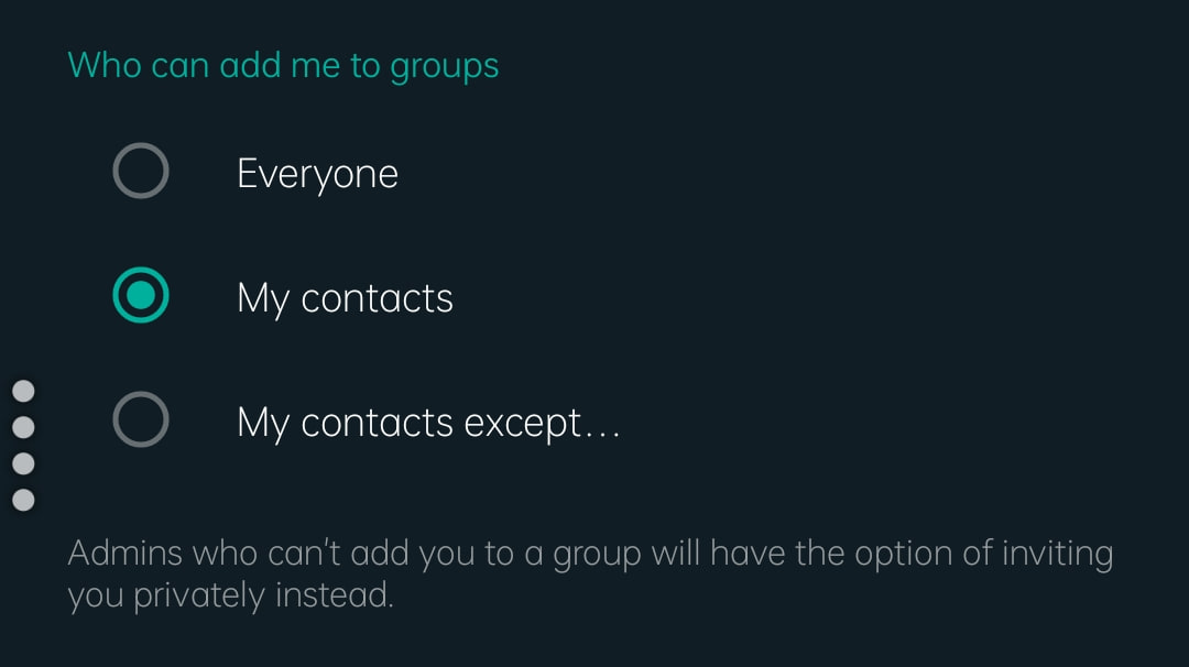 adding users to whatsapp group, stop unknown users from adding you to unwanted groups, how to stop unknown users from adding you to unwanted groups, how to get rid of unknown users adding you to the random group, adding users to whatsapp group, stop whatsapp group random add